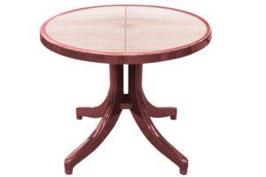 Tavolinë plastike e rrumbullakët 90x90cm